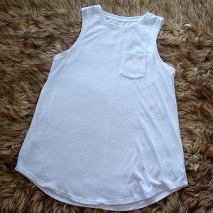Merona White Knit Basic Tank Top